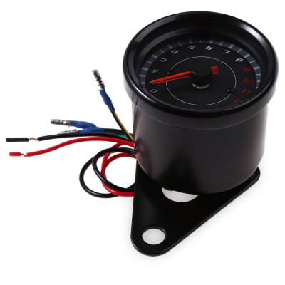 B719 Universal LED Auto Electric Tachometer Meter Gauge