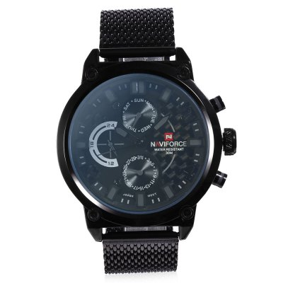NAVIFORCE NF9068M Male Quartz WatchMens Watches<br>NAVIFORCE NF9068M Male Quartz Watch<br><br>Band Length: 7.87 inch<br>Band Material Type: Stainless Steel<br>Band Width: 22mm<br>Case material: Alloy<br>Case Shape: Round<br>Clasp type: Hook Buckle<br>Dial Diameter: 1.89 inch<br>Dial Display: Analog<br>Dial Window Material Type: Hardlex<br>Feature: Date, Day<br>Gender: Men<br>Movement: Quartz<br>Package Contents: 1 x NAVIFORCE NF9068M Male Quartz Watch<br>Package Size(L x W x H): 27.00 x 6.00 x 2.00 cm / 10.63 x 2.36 x 0.79 inches<br>Package weight: 0.142 kg<br>Product Size(L x W x H): 26.00 x 5.00 x 1.00 cm / 10.24 x 1.97 x 0.39 inches<br>Product weight: 0.133 kg<br>Style: Business<br>Water Resistance Depth: 30m