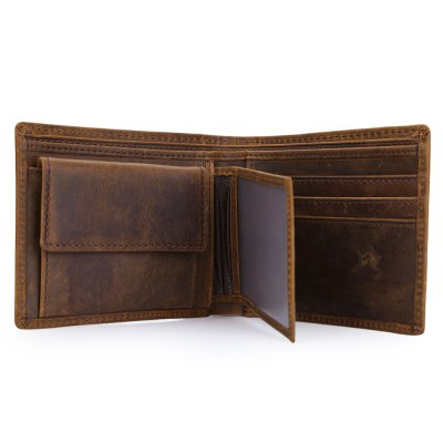 Crazy Horse Leather Open Horizontal Wallet