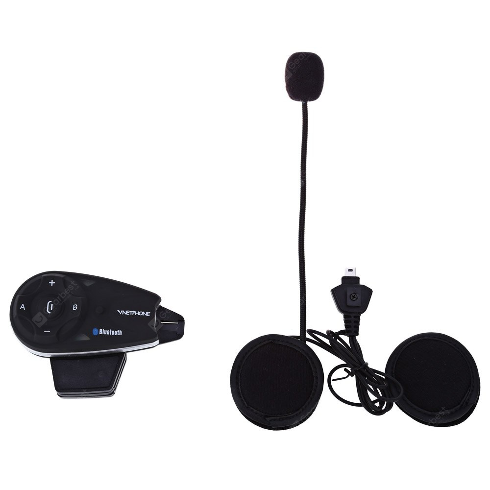 V5 1200M Bluetooth Full-duplex Motorcycle Helmet Interphone