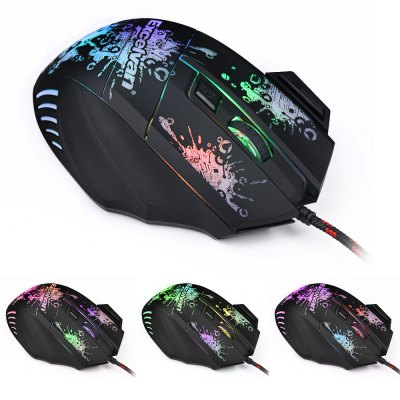 Excelvan 7 Buttons LED USB Wired Gaming Mouse