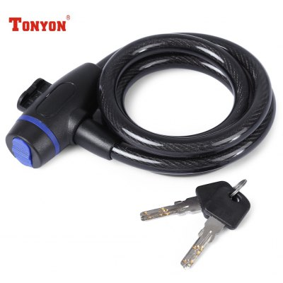 TONYON Mini Motorcycle Frame Cable Coil Lock Security Kit