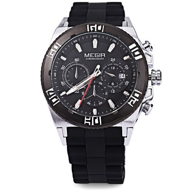 MEGIR M3009 Men Multifunctional Quartz WatchMens Watches<br>MEGIR M3009 Men Multifunctional Quartz Watch<br><br>Band Length: 8.27 inch<br>Band Material Type: Silicone,Stainless Steel<br>Band Width: 22 mm<br>Case material: Alloy<br>Case Shape: Round<br>Clasp type: Folding Clasp with Safety<br>Dial Diameter: 1.75 inch<br>Dial Display: Analog<br>Dial Window Material Type: Mineral Glass Mirror<br>Feature: Chronograph,Date,Luminous<br>Gender: Men<br>Movement: Quartz<br>Style: Business,Sport<br>Water Resistance Depth: 30m<br>Product weight: 0.115 kg<br>Package weight: 0.136 kg<br>Product Size(L x W x H): 21.00 x 4.80 x 1.40 cm / 8.27 x 1.89 x 0.55 inches<br>Package Size(L x W x H): 11.50 x 5.80 x 2.40 cm / 4.53 x 2.28 x 0.94 inches<br>Package Contents: 1 x MEGIR M3009 Men Quartz Watch