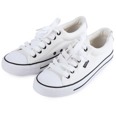 Paired Women Breathable Skateboarding Shoes Canvas Sneakers