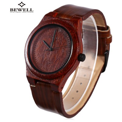 BEWELL ZS - W105CG Men Wooden Quartz Watch