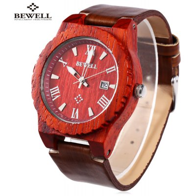 BEWELL ZS - W109CG Men Wooden Quartz Watch