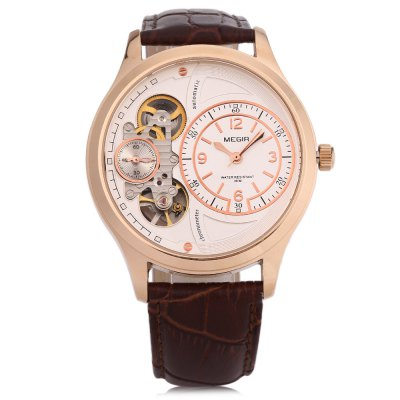 MEGIR 2017G Men Quartz WatchMens Watches<br>MEGIR 2017G Men Quartz Watch<br><br>Band Length: 7.72 inch<br>Band Material Type: Leather<br>Band Width: 22 mm<br>Case material: Alloy<br>Case Shape: Round<br>Clasp type: Pin Buckle<br>Dial Diameter: 1.65 inch<br>Dial Display: Analog<br>Dial Window Material Type: Mineral Glass Mirror<br>Gender: Men<br>Movement: Automatic Self-Wind<br>Water Resistance Depth: 30m<br>Product weight: 0.066 kg<br>Package weight: 0.087 kg<br>Product Size(L x W x H): 25.00 x 4.50 x 1.10 cm / 9.84 x 1.77 x 0.43 inches<br>Package Size(L x W x H): 26.00 x 5.50 x 2.10 cm / 10.24 x 2.17 x 0.83 inches<br>Package Contents: 1 x MEGIR 2017G Men Male Automatic Wind Mechanical Watch
