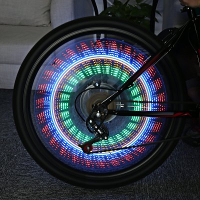 Bike Cycling 32 LEDs 32 Patterns Colorful Flash Wheel Spoke Light