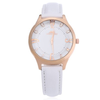 Margues M - 3041 Women Quartz WatchWomens Watches<br>Margues M - 3041 Women Quartz Watch<br><br>Band Length: 7.8 inch<br>Band Material Type: Leather<br>Band Width: 16mm<br>Case material: Alloy<br>Case Shape: Round<br>Clasp type: Pin buckle<br>Dial Diameter: 1.4 inch<br>Dial Display: Analog<br>Dial Window Material Type: Glass<br>Gender: Women<br>Movement: Quartz<br>Style: Simple<br>Water Resistance Depth: 30m<br>Product weight: 0.032 kg<br>Package weight: 0.060 kg<br>Product Size(L x W x H): 24.00 x 3.80 x 0.70 cm / 9.45 x 1.5 x 0.28 inches<br>Package Size(L x W x H): 25.00 x 4.50 x 1.50 cm / 9.84 x 1.77 x 0.59 inches<br>Package Contents: 1 x Margues M - 3041 Women Quartz Watch