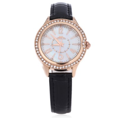 Margues M - 3029 Women Quartz WatchWomens Watches<br>Margues M - 3029 Women Quartz Watch<br><br>Band Length: 7.8 inch<br>Band Material Type: Leather<br>Band Width: 14mm<br>Case material: Alloy<br>Case Shape: Round<br>Clasp type: Pin buckle<br>Dial Diameter: 1.25 inch<br>Dial Display: Analog<br>Dial Window Material Type: Glass<br>Gender: Women<br>Movement: Quartz<br>Style: Simple<br>Water Resistance Depth: 30m<br>Product weight: 0.028 kg<br>Package weight: 0.053 kg<br>Product Size(L x W x H): 23.50 x 3.50 x 0.70 cm / 9.25 x 1.38 x 0.28 inches<br>Package Size(L x W x H): 24.50 x 4.50 x 1.50 cm / 9.65 x 1.77 x 0.59 inches<br>Package Contents: 1 x Margues M - 3029 Women Quartz Watch