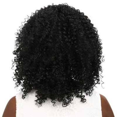 Synthetic Wig Medium Curly Black HairSynthetic Wigs<br>Synthetic Wig Medium Curly Black Hair<br><br>Bang Type: None<br>Cap Construction: Full Lace<br>Length: Medium<br>Length Size(CM): 44<br>Length Size(Inch): About 17<br>Material: Synthetic Hair<br>Package Contents: 1 x Wig, 1 x Mesh Cap<br>Package size (L x W x H): 27.00 x 17.00 x 7.00 cm / 10.63 x 6.69 x 2.76 inches<br>Package weight: 0.307 kg<br>Product weight: 0.230 kg<br>Source: Chinese Hair<br>Style: Curly<br>Type: Full Wigs