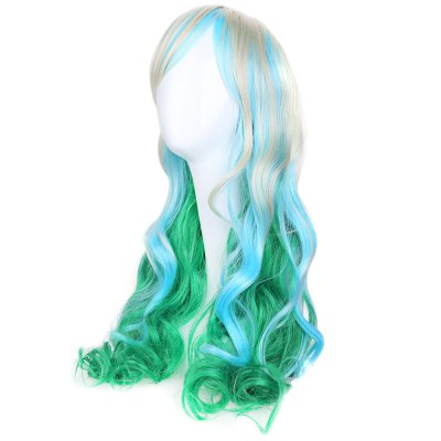 Wavy Colorful Wig Hair Cosplay Japanese Harajuku StyleCosplay Wigs<br>Wavy Colorful Wig Hair Cosplay Japanese Harajuku Style<br><br>Bang Type: Side<br>Length: Medium<br>Length Size(CM): About 65cm<br>Length Size(Inch): About 18<br>Material: Synthetic Hair<br>Package Contents: 1 x Wig Hair<br>Package size (L x W x H): 25.50 x 15.00 x 5.00 cm / 10.04 x 5.91 x 1.97 inches<br>Package weight: 0.302 kg<br>Product size (L x W x H): 65.00 x 65.00 x 65.00 cm / 25.59 x 25.59 x 25.59 inches<br>Product weight: 0.220 kg<br>Source: Chinese Hair<br>Style: Curly<br>Type: Full Wigs