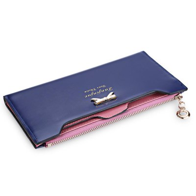 Bowknot Letter Hasp Zipper Horizontal Long WalletWomens Wallets<br>Bowknot Letter Hasp Zipper Horizontal Long Wallet<br><br>Wallets Type: Clutch Wallets<br>Gender: For Women<br>Style: Fashion<br>Closure Type: Zipper&amp;Hasp<br>Pattern Type: Solid<br>Main Material: PU Leather<br>Hardness: Soft<br>Interior: Interior Slot Pocket<br>Embellishment: Bowknot<br>Height: 10.3 cm / 4.06 inch<br>Width: 1 cm / 0.39 inch<br>Length(CM): 19.7 cm / 7.76 inch<br>Product weight: 0.115 kg<br>Package weight: 0.139 kg<br>Package size (L x W x H): 20.20 x 1.50 x 10.80 cm / 7.95 x 0.59 x 4.25 inches<br>Package Contents: 1 x Wallet