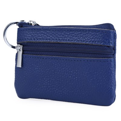 unisex-solid-color-leather-zipper-horizontal-coin-purse
