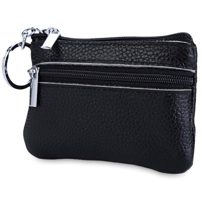 Unisex Solid Color Leather Zipper Horizontal Coin PurseMens Wallets<br>Unisex Solid Color Leather Zipper Horizontal Coin Purse<br><br>Gender: Unisex<br>Style: Casual<br>Closure Type: Zipper<br>Pattern Type: Solid<br>Length(CM): 10.5 cm / 4.13 inch<br>Width: 1 cm / 0.39 inch<br>Height: 7.5 cm / 2.95 inch<br>Product weight: 0.032 kg<br>Package weight: 0.053 kg<br>Product size (L x W x H): 10.50 x 1.00 x 7.50 cm / 4.13 x 0.39 x 2.95 inches<br>Package size (L x W x H): 11.00 x 1.50 x 8.00 cm / 4.33 x 0.59 x 3.15 inches<br>Package Contents: 1 x Coin Purse