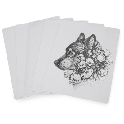 5pcs 20 x 15cm Blank Tattoo Practice Skins Fake Sheet Double-side Supply