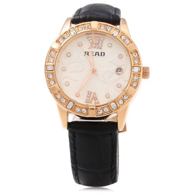 READ R2050 Female Quartz WatchWomens Watches<br>READ R2050 Female Quartz Watch<br><br>Band Length: 7.87 inch<br>Band Material Type: Genuine Leather<br>Band Width: 16mm<br>Case material: Alloy<br>Case Shape: Round<br>Clasp type: Pin Buckle<br>Dial Diameter: 1.34 inch<br>Dial Display: Analog<br>Dial Window Material Type: Mineral Glass Mirror<br>Feature: Date,Luminous<br>Gender: Women<br>Movement: Quartz<br>Style: Luxury<br>Water Resistance Depth: 30m<br>Product weight: 0.043 kg<br>Package weight: 0.156 kg<br>Product Size(L x W x H): 24.00 x 4.00 x 0.80 cm / 9.45 x 1.57 x 0.31 inches<br>Package Size(L x W x H): 8.00 x 10.50 x 7.50 cm / 3.15 x 4.13 x 2.95 inches<br>Package Contents: 1 x READ R2050 Women Quartz Watch