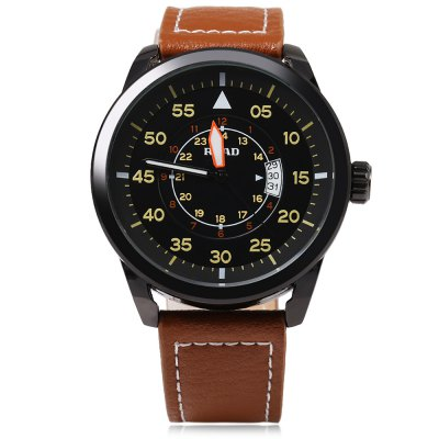 READ R2062G Male Quartz WatchMens Watches<br>READ R2062G Male Quartz Watch<br><br>Band Length: 8.66 inch<br>Band Material Type: Genuine Leather<br>Band Width: 22 mm<br>Case material: Alloy<br>Case Shape: Round<br>Clasp type: Pin Buckle<br>Dial Diameter: 1.77 inch<br>Dial Display: Analog<br>Dial Window Material Type: Mineral Glass Mirror<br>Feature: Date,Luminous<br>Gender: Men<br>Movement: Quartz<br>Style: Business<br>Water Resistance Depth: 30m<br>Product weight: 0.067 kg<br>Package weight: 0.180 kg<br>Product Size(L x W x H): 25.50 x 5.00 x 1.20 cm / 10.04 x 1.97 x 0.47 inches<br>Package Size(L x W x H): 10.50 x 8.00 x 7.50 cm / 4.13 x 3.15 x 2.95 inches<br>Package Contents: 1 x READ R2062G Male Quartz Watch