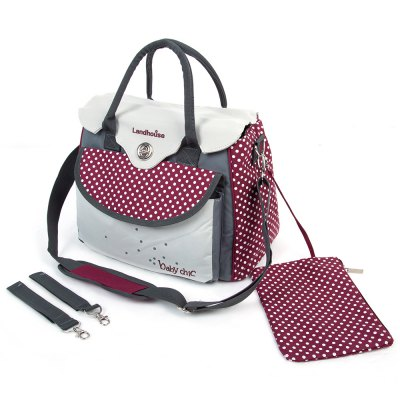 Waterproof Inside Baby Diaper Bag Mummy HandbagWaterproof Inside Baby Diaper Bag Mummy Handbag<br><br>Style: Tote Bag<br>Item Size: Medium(30-50cm)<br>Gender: Unisex<br>Material: Canvas,Polyester<br>Pattern: Polka Dot<br>Feature: Waterproof<br>Season: All seasons<br>Adjustable: Yes<br>Product weight: 0.730 kg<br>Package weight: 0.803 kg<br>Product size (L x W x H): 38.00 x 22.00 x 26.00 cm / 14.96 x 8.66 x 10.24 inches<br>Package size (L x W x H): 41.00 x 33.00 x 6.00 cm / 16.14 x 12.99 x 2.36 inches<br>Package Contents: 1 x Mummy Bag, 1 x Storage Bag