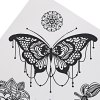 cheap Black Tattoo Sticker Temporary Flower Lace Metal Pattern