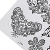 Black Tattoo Sticker Temporary Flower Lace Metal Pattern deal