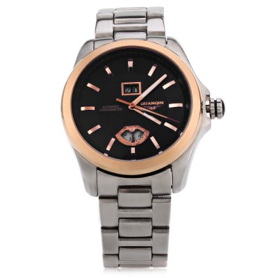 GUANQIN GJ16026 Men Auto Mechanical WatchMens Watches<br>GUANQIN GJ16026 Men Auto Mechanical Watch<br><br>Band Length: 8.72 inch<br>Band Material Type: Stainless Steel<br>Band Width: 20 mm<br>Case material: Alloy<br>Case Shape: Round<br>Clasp type: Folding Clasp with Safety<br>Dial Diameter: 1.65 inch<br>Dial Display: Analog<br>Dial Window Material Type: Sapphire<br>Feature: Date,Luminous<br>Gender: Men<br>Movement: Automatic Self-Wind<br>Style: Business,Dress<br>Water Resistance Depth: 30m<br>Product weight: 0.180 kg<br>Package weight: 0.201 kg<br>Product Size(L x W x H): 22.60 x 4.40 x 1.40 cm / 8.9 x 1.73 x 0.55 inches<br>Package Size(L x W x H): 12.30 x 5.40 x 2.40 cm / 4.84 x 2.13 x 0.94 inches<br>Package Contents: 1 x GUANQIN GJ16026 Men Auto Mechanical Watch