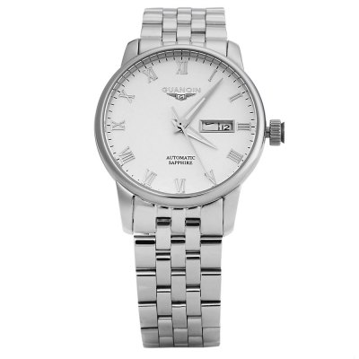 GUANQIN GJ16025 Men Auto Mechanical WatchMens Watches<br>GUANQIN GJ16025 Men Auto Mechanical Watch<br><br>Band Length: 8.74 inch<br>Band Material Type: Stainless Steel<br>Band Width: 18 mm<br>Case material: Alloy<br>Case Shape: Round<br>Clasp type: Butterfly Clasp<br>Dial Diameter: 3.8 inch<br>Dial Display: Analog<br>Dial Window Material Type: Sapphire<br>Feature: Date,Day,Luminous<br>Gender: Men<br>Movement: Automatic Self-Wind<br>Style: Business,Simple<br>Water Resistance Depth: 50m<br>Product weight: 0.145 kg<br>Package weight: 0.166 kg<br>Product Size(L x W x H): 22.20 x 4.20 x 1.20 cm / 8.74 x 1.65 x 0.47 inches<br>Package Size(L x W x H): 12.10 x 5.20 x 2.20 cm / 4.76 x 2.05 x 0.87 inches<br>Package Contents: 1 x GUANQIN GJ16025 Men Auto Mechanical Watch