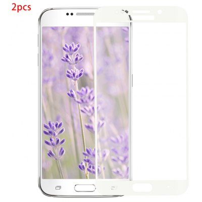 2pcs Curved Tempered Glass Film for Samsung S6 Edge Plus