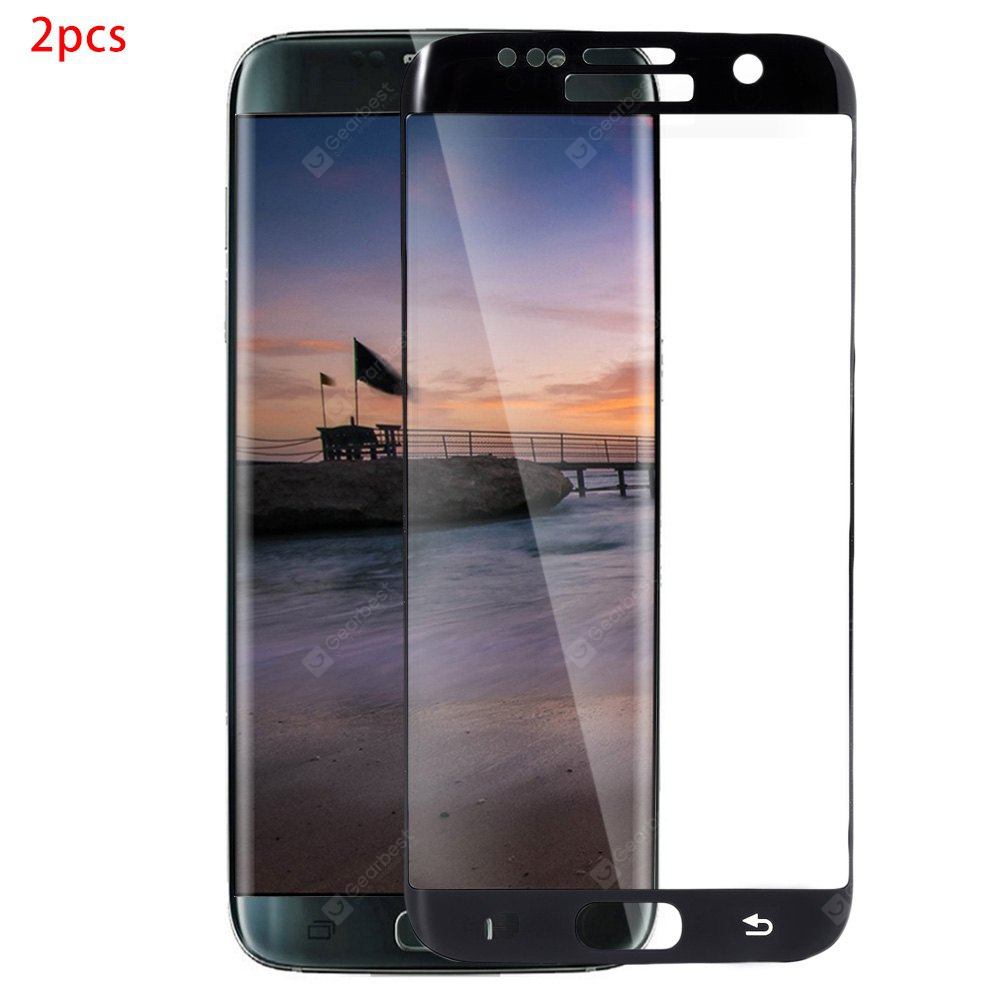 2pcs Curved Tempered Glass Film for Samsung S7 Edge