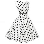 Vintage Polka Dot Print A-line Women Ball Gown Dress deal