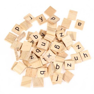 100pcs Wooden Lowercase Letters Board Toy