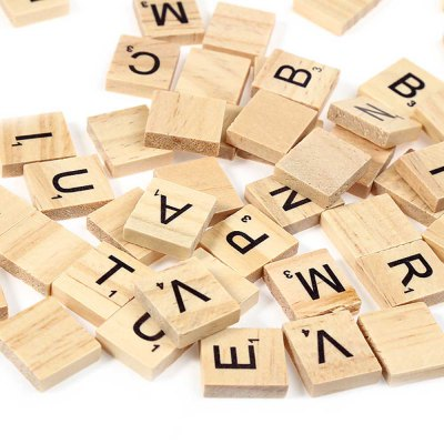 100pcs Wooden CapitalLetters Board Toy