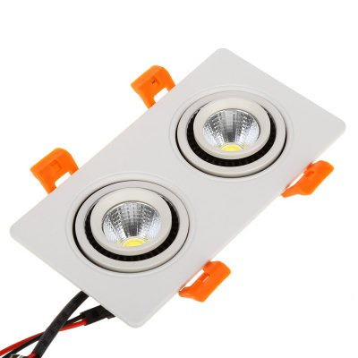 LED 6W Double Heads COB Gimbal Recessed Ceiling Light