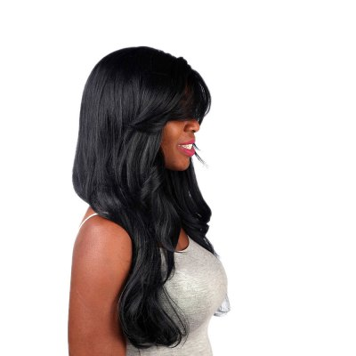 african-wig-partial-black-bangs-wavy-long-curly-hair