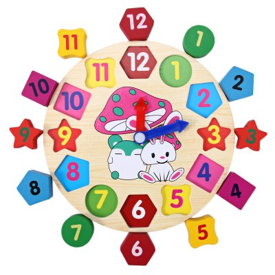 Wooden Blocks Toys Digital Geometry ClockBlock Toys<br>Wooden Blocks Toys Digital Geometry Clock<br><br>Type: Building Blocks<br>Age: 0~12 Month,13~24 Months<br>Material: Wood<br>Design Style: Animal,Cartoon,Clock,Digital,Geometric Shape<br>Features: Educational<br>Puzzle Style: 3D Puzzle<br>Small Parts : Yes<br>Washing: No<br>Applicable gender: Unisex<br>Product weight: 0.137 kg<br>Package weight: 0.240 kg<br>Package size (L x W x H): 19.00 x 19.00 x 2.70 cm / 7.48 x 7.48 x 1.06 inches<br>Package Contents: 1 x Wooden Blocks Toys Digital Geometry Clock