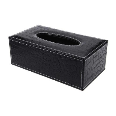 PU Leather Crocodile Pattern Household Tissue Box Holder