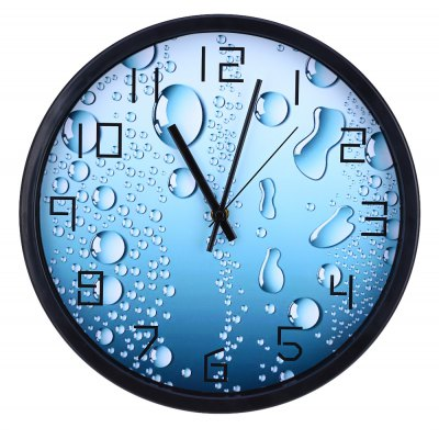 12 Inches 3D Silent Water Drop Pattern Wall Clock