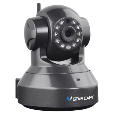 Vstarcam C7837WIP Wireless WiFi IP CameraIP Cameras<br>Vstarcam C7837WIP Wireless WiFi IP Camera<br><br>High Definition Support: 720P (HD)<br>Model Number: C7837WIP<br>NightShot Function: Yes<br>Optical Zoom  : &lt; 10x<br>Sensor Size (inches): 1/4 inches<br>Sensor Type: CMOS<br>Type: Remote Control,Wireless Camera<br>Usage: Amateur Professional,Home use<br>Product weight: 0.260 kg<br>Package weight: 0.680 kg<br>Product Size(L x W x H): 12.80 x 10.30 x 13.30 cm / 5.04 x 4.06 x 5.24 inches<br>Package Size(L x W x H): 20.80 x 15.40 x 13.70 cm / 8.19 x 6.06 x 5.39 inches<br>Package Contents: 1 x IP Camera, 1 x Bag of Install Fittings, 1 x Power Adapter, 1 x Mounting Bracket