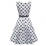 best Vintage Polka Dot Print A-line Women Ball Gown Dress