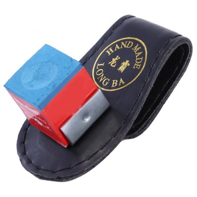 Magnetic Snooker Billiards Cue Chalk Holder with Belt Clip