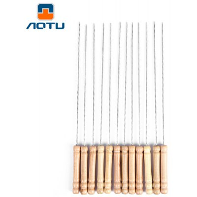 AOTU 12pcs BBQ Skewer Bake Needle Grill