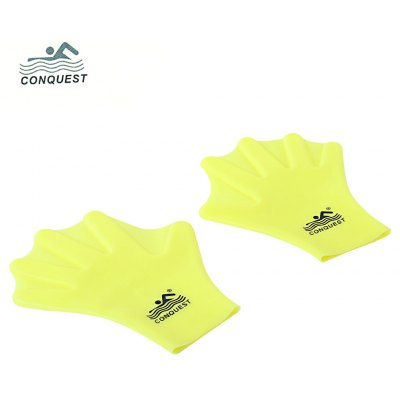 Conquest Paired Unisex Silicone Swimming Webbed Gloves