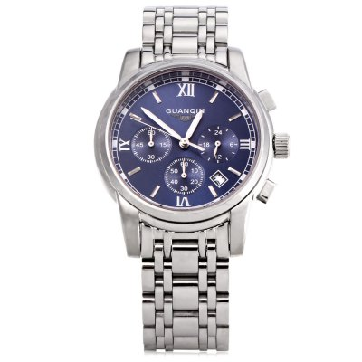 GUANQIN GS19018 Men Quartz WatchMens Watches<br>GUANQIN GS19018 Men Quartz Watch<br><br>Band Length: 8.43 inch<br>Band Material Type: Stainless Steel<br>Band Width: 20 mm<br>Case material: Alloy<br>Case Shape: Round<br>Clasp type: Butterfly Clasp<br>Dial Diameter: 1.52 inch<br>Dial Display: Analog<br>Dial Window Material Type: Sapphire<br>Feature: Chronograph,Date,Luminous<br>Gender: Men<br>Movement: Quartz<br>Style: Business,Dress<br>Water Resistance Depth: 30m<br>Product weight: 0.138 kg<br>Package weight: 0.159 kg<br>Product Size(L x W x H): 21.40 x 4.40 x 1.00 cm / 8.43 x 1.73 x 0.39 inches<br>Package Size(L x W x H): 11.70 x 5.40 x 2.00 cm / 4.61 x 2.13 x 0.79 inches<br>Package Contents: 1 x GUANQIN GS19018 Men Quartz Watch