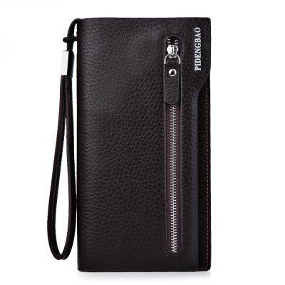 Lichee Pattern Clutch Portable WalletMens Wallets<br>Lichee Pattern Clutch Portable Wallet<br><br>Wallets Type: Clutch Wallets<br>Gender: For Men<br>Style: Fashion<br>Closure Type: Zipper&amp;Hasp<br>Pattern Type: Solid<br>Main Material: PU Leather<br>Interior: Interior Slot Pocket<br>Embellishment: Letter<br>Strap Length: 14.7 cm / 5.79 inch<br>Height: 19.7 cm / 7.76 inch<br>Width: 2.9 cm / 1.14 inch<br>Length(CM): 10.3 cm / 4.06 inch<br>Product weight: 0.210 kg<br>Package weight: 0.242 kg<br>Package size (L x W x H): 10.80 x 3.40 x 20.20 cm / 4.25 x 1.34 x 7.95 inches<br>Package Contents: 1 x Clutch Portable Wallet