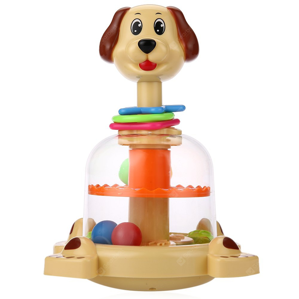 Baby Funny Animal Turntable Toy COFFEE