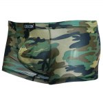 cheap Elastic Acrylic Camouflage Boxer Brief