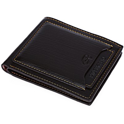 Solid Color Letter Horizontal Business Money Card Wallet