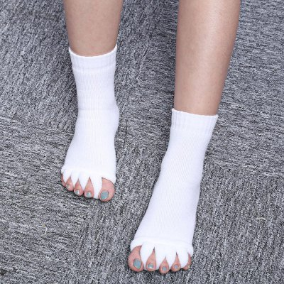 1 Pair Five Toe Socks Fingers Separator Foot Pain Relief Massager