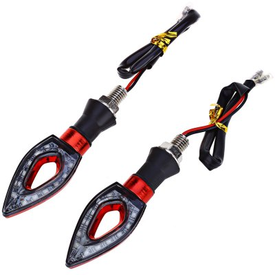 2pcs Motorcycle Turn Signal 12-LED Indicator Light