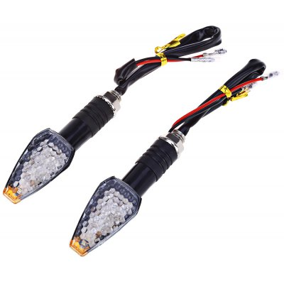 2pcs Motorcycle Turn Signal 10-LED Indicator Light